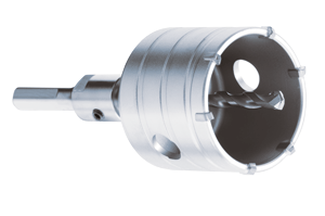 Thin Wall Hollow Core Bit System for SDS plus and 1/2 inch Hammer Drills