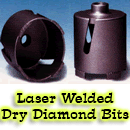 Dry Diamond Bits for use on Brick and Block