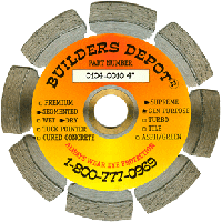 """4"""" X .080"""" Builders Depot® Supreme General Purpose Diamond Blade with a 7/8""""-5/8"""" Arbor"""