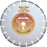 "12"" x .125"" Premium Brick and Block 12 inch Diamond Blade"