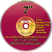"""7"""" X.060 Dry Cutting 7 inch Diamond Blade for Tile"""