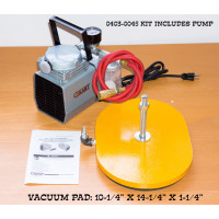 BD-125 Oval Vacuum Pad and Pump Combo