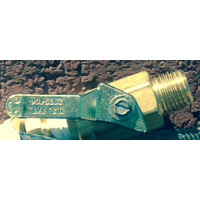 Replacement Brass Petcock for 3.5 Gallon Portable Water Supply Tank and Sprayer