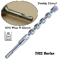 0622 SDS Plus Shank Double Fluted Carbide Bits - 650x650