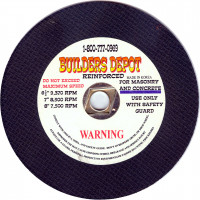 6.5 Inch Abrasive Blade for Concrete and Masonry