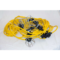 100 Foot Cord-o-lite chained lights and plug