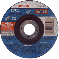 Single Bosch Type 1 4-1/2