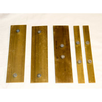 BD500 Set of brass gib plates - 5 plates