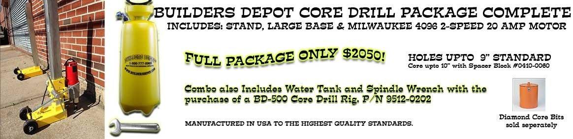 Milwaukee Core Drill Combo
