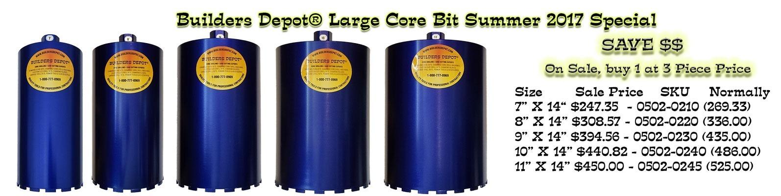 Large Core Bit Special