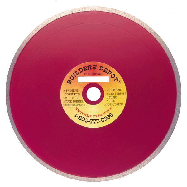 Builders Depot Wet Cutting Diamond Saw Blades For Tile Marble - Best wet saw blade for porcelain tile