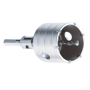 Dry core bit with SDS Plus adapter and safety glasses sizes 1/'/' to 4 1//2/'/'
