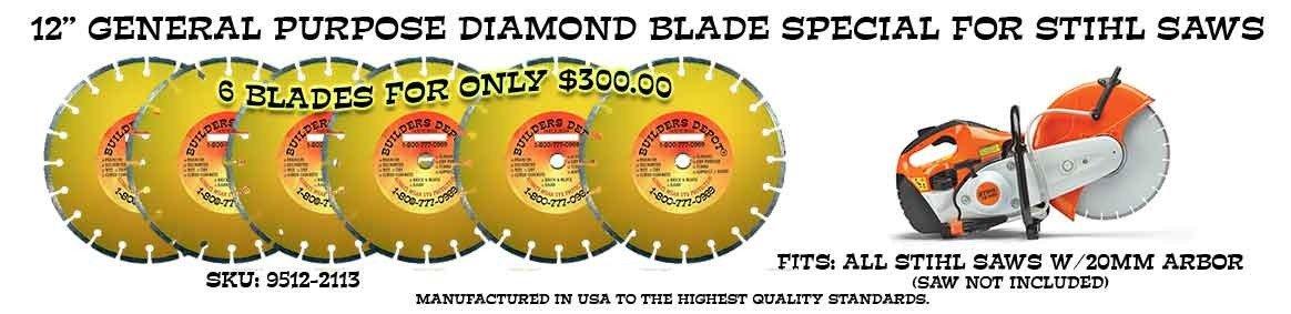 12 inch Stihl Saw 6 Blade Special