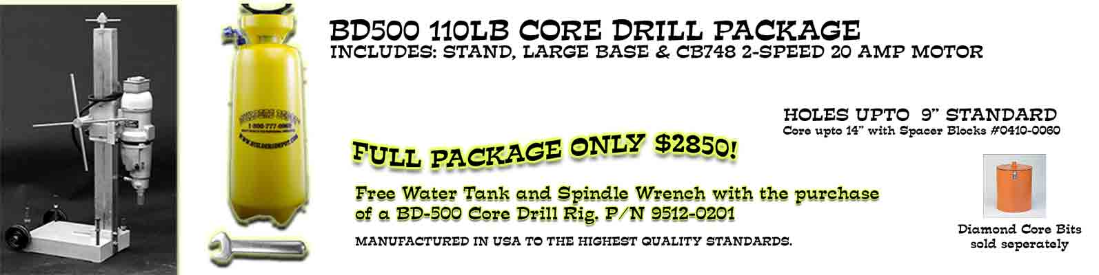 Yes, take me to Core Drill Machines